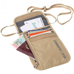 Portfel Travelling Light Neck Wallet sand/grey