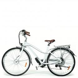 Rower hybrydowy elektryczny Trybeco LUNA 28 White Pearl
