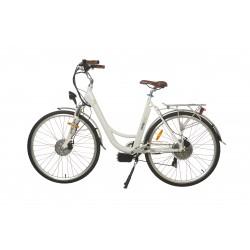 Rower hybrydowy elektryczny Trybeco LUCY 28 White Pearl